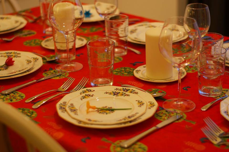 table mise pour un repas